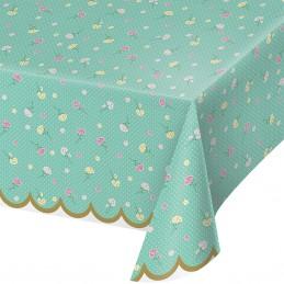 Floral Tea Party Plastic Tablecloth | Floral Tea Party Party Supplies