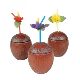Plastic Coconut Cups (Pack of 6) | Party Bag Fillers Party Supplies