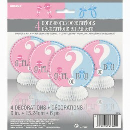 Gender Reveal Baby Shower Mini Centerpieces (Set of 4)