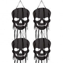 Hanging Skull Cutout Decorations (Pack of 4) | Halloween Decorations