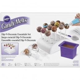 Wilton Candy Melts Dip-N-Decorate Essentials Kit (49 Piece) | Wilton Party Supplies