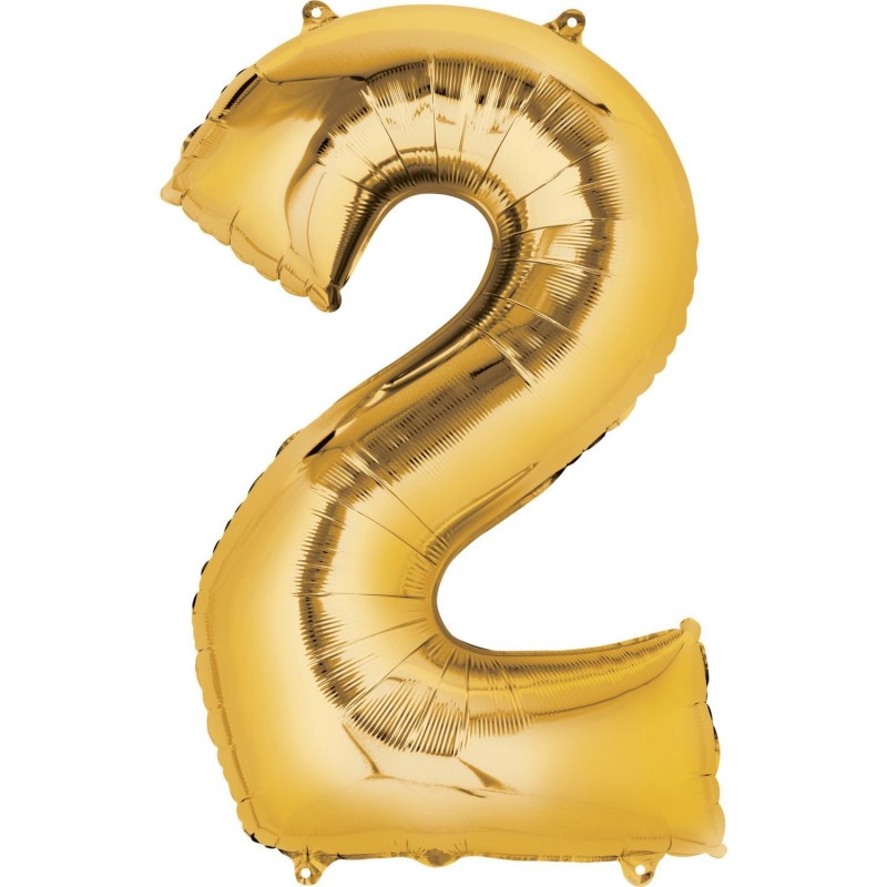 Gold Number 2 Balloon 86cm