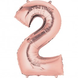 Rose Gold Number 2 Balloon 86cm