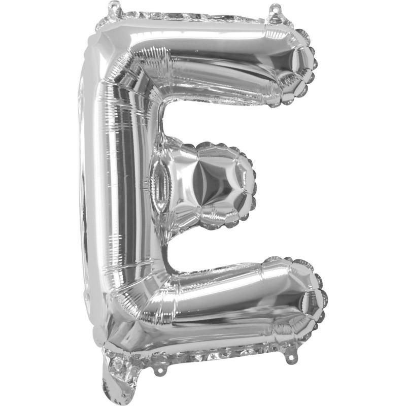 Silver Letter E Balloon 35cm