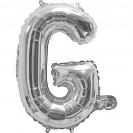 Silver Letter G Balloon 35cm