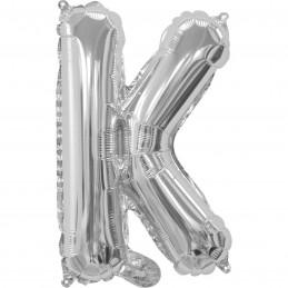 Silver Letter K Balloon 35cm