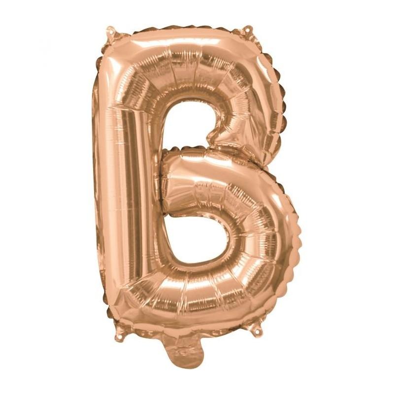 Rose Gold Letter B Balloon 35cm
