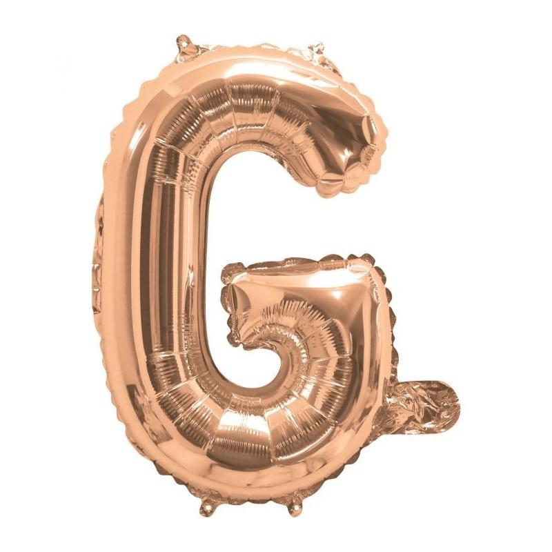 Rose Gold Letter G Balloon 35cm