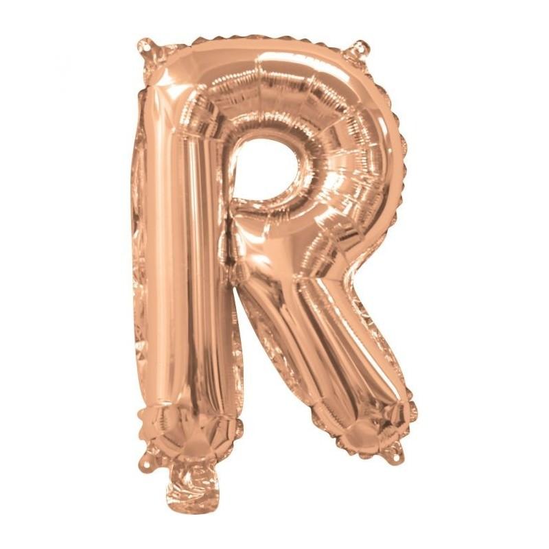Rose Gold Letter R Balloon 35cm