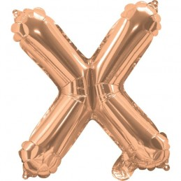 Rose Gold Letter X Balloon 35cm