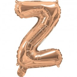 Rose Gold Letter Z Balloon 35cm