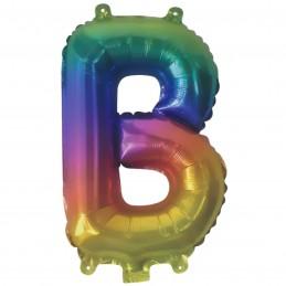 Rainbow Letter B Balloon 35cm