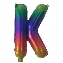 Rainbow Letter K Balloon 35cm