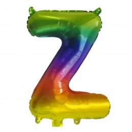 Rainbow Letter Z Balloon 35cm