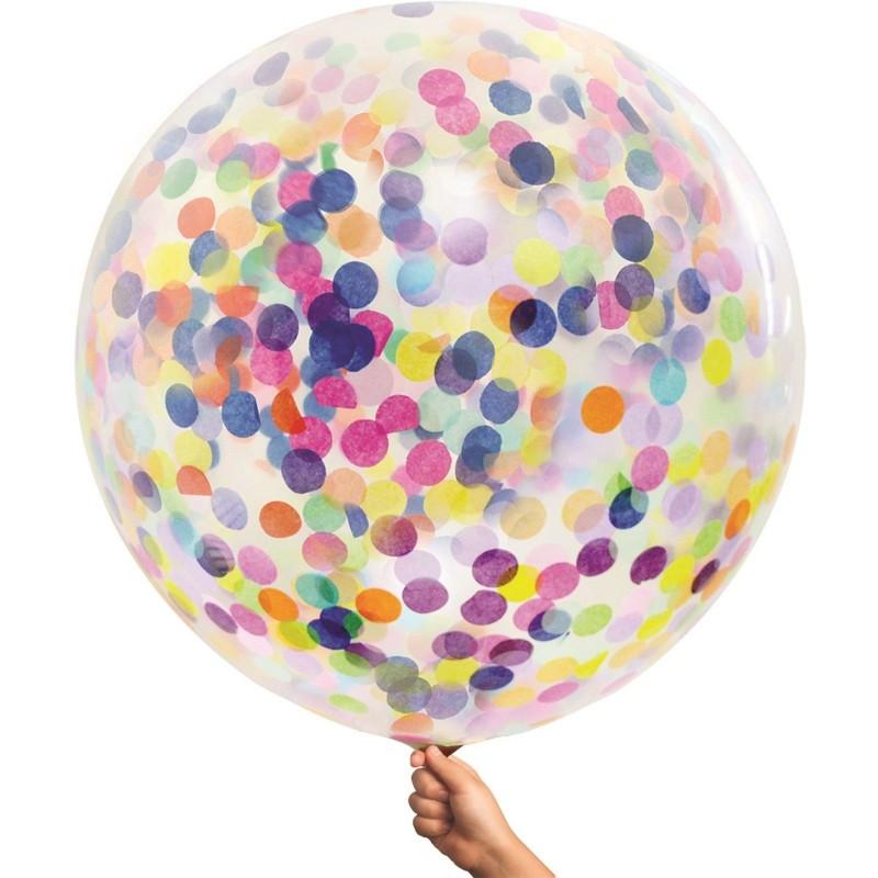 Multi Colour Giant Confetti Balloon 90cm