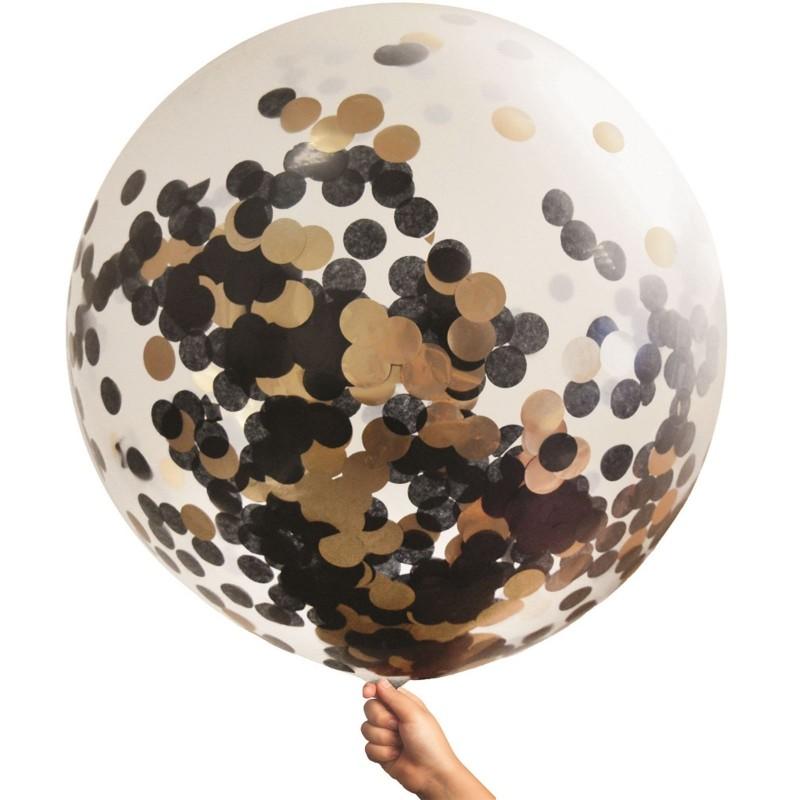 Rose Gold Giant Confetti Balloon 90cm
