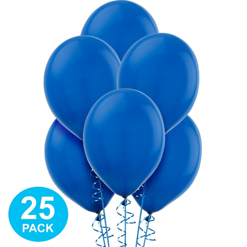 Standard Blue Latex Balloons (Pack of 25)