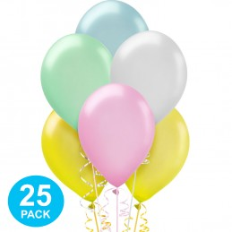 Assorted Pastel Pearl Balloons (Pack of 25)