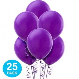 Purple Latex Balloons (Pack of 25)
