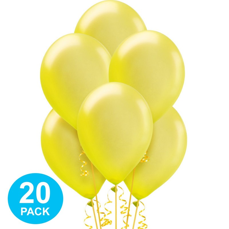 Yellow Pearl Balloons (Pack of 20)