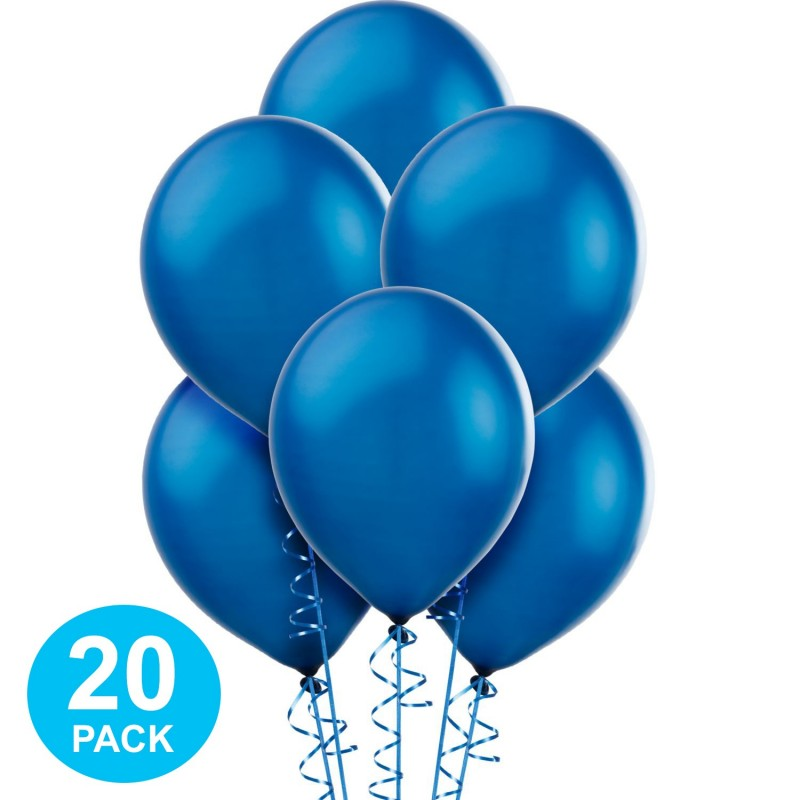 Blue Pearl Balloons (Pack of 20)