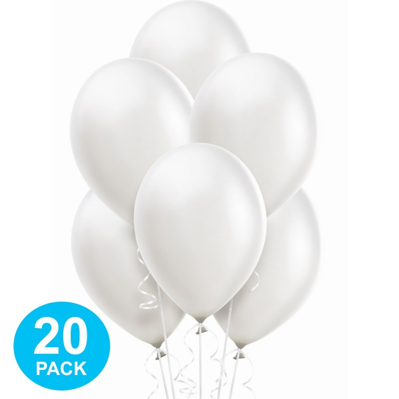 White Pearl Balloons (Pack of 20)