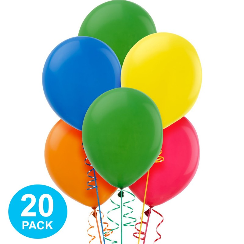 Assorted Colour Balloons (Pack of 20)