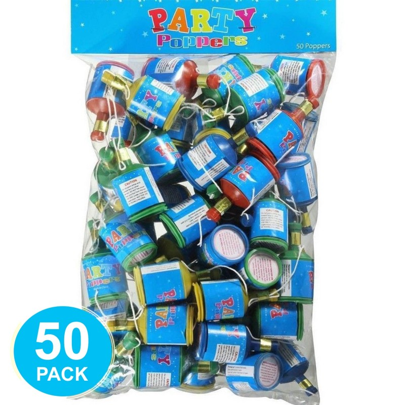 Party Poppers (Pack of 50)