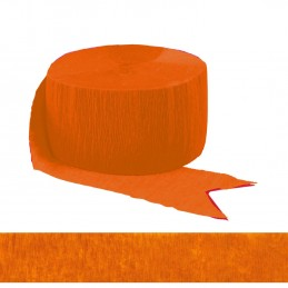 Orange Crepe Streamer | Streamers
