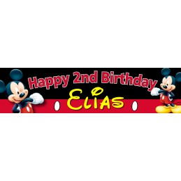 Mickey Mouse Birthday Party Personalised Banner