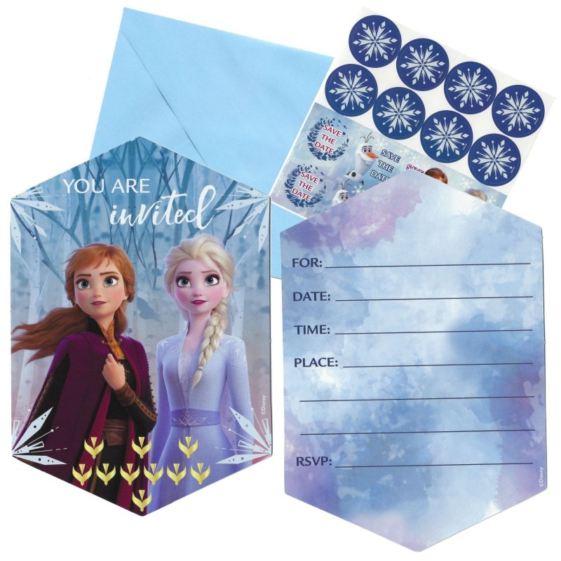 Frozen 2 Party Invitations (Pack of 8)