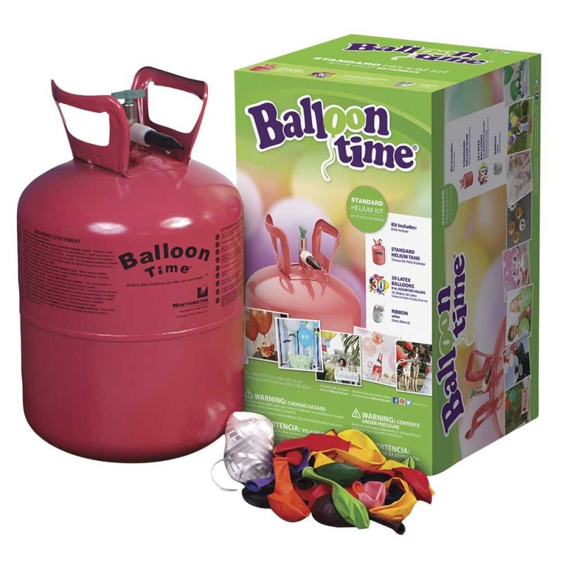 Balloon Time Standard Helium Tank (Includes 30 Balloons)
