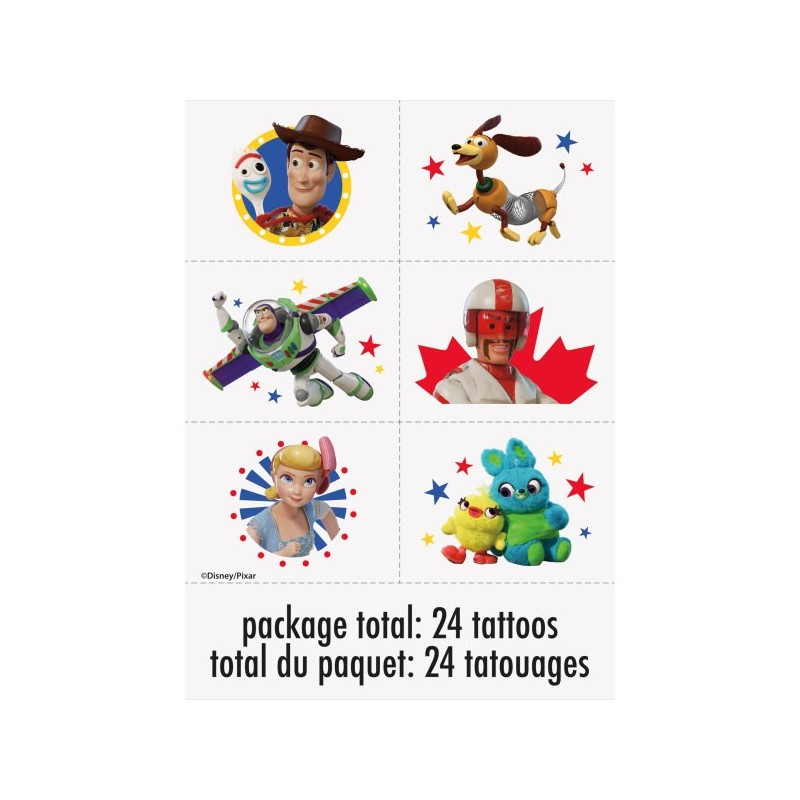 Toy Story 4 Tattoos (Set of 24)