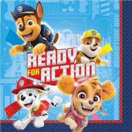 Paw Patrol Adventures Small Napkins (Pack of 16)