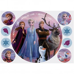 Wilton Frozen 2 Cake Image Topper (Set of 9) | Frozen 2 Party Supplies