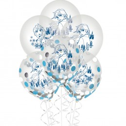 Frozen 2 Confetti Latex Balloons (Pack of 6)