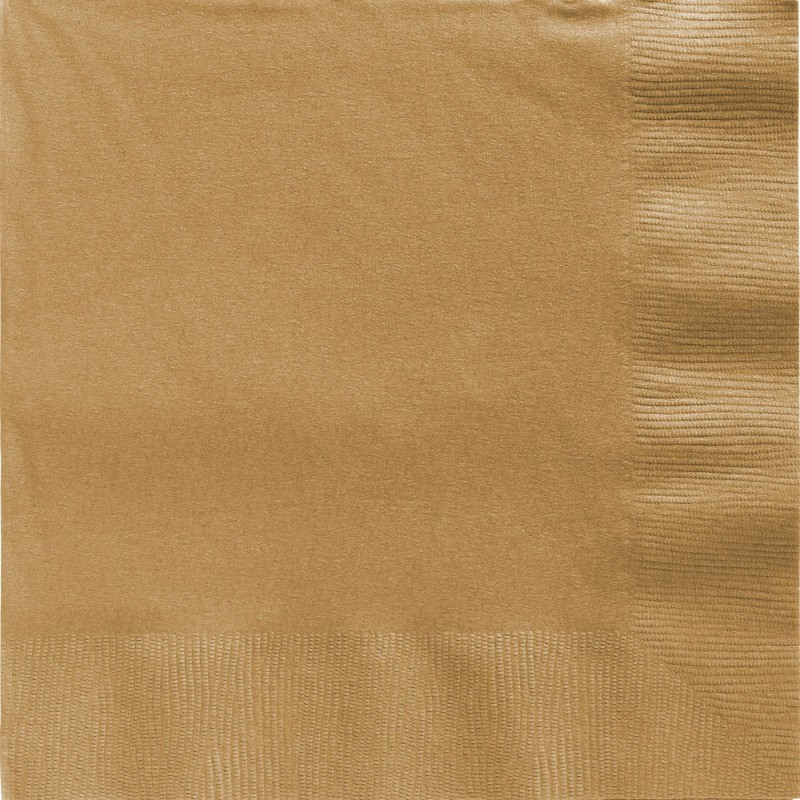 Gold Large Napkins (Pack of 20)