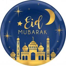 Eid Mubarak Metallic Gold Large Platter Plate