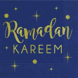 Ramadan Kareem Metallic Gold Small Napkins (Pack of 16)