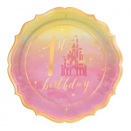 Disney Princess 1st Birthday Small Plates (Pack of 8)