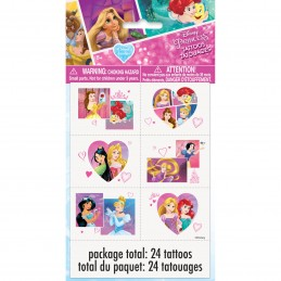 Disney Princess Tattoos (Set of 24)