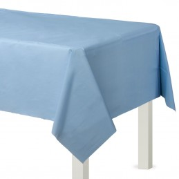 Pastel Blue Plastic Tablecover