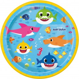 Baby Shark Small Plates (Pack of 8)