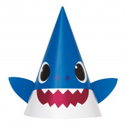 Baby Shark Party Hats (Pack of 8)