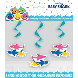 Baby Shark Hanging Swirls (Set of 3)
