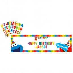 Elmo 1st Birthday Personalised Banner Kit
