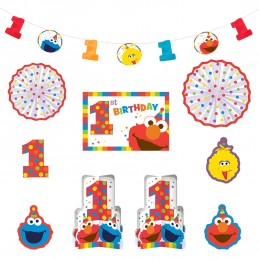 Elmo 1st Birthday Room Decorating Kit (Set of 10)