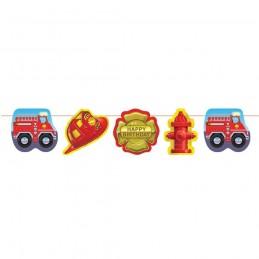 Fire Truck Garland Banner