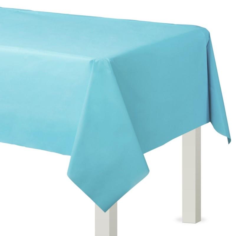 Caribbean Blue Plastic Tablecover