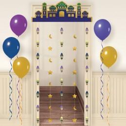 Eid Metallic Gold Doorway Curtain